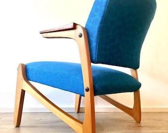 Mid Century Scandinavian Vintage Armchair Lounge Chair Danish Influence 1960's
