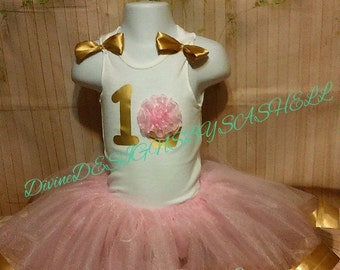 Pink Birthday Tutu Set