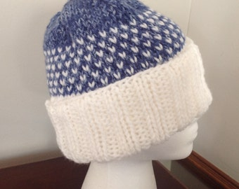 Snowy Day Hat - Blue Heather