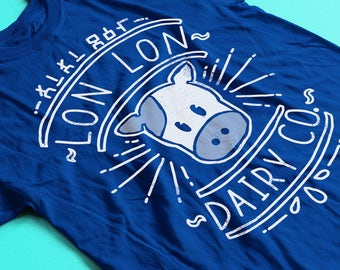 Lon Lon Dairy Co. Shirt - N64 Legend of Zelda Shirt / Zelda Tee / Nintendo 64 Shirt  / Retro Gaming Shirt / Breath of the Wild / Ocarina