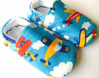 airplane shoes baby boy shoes blue shoes airplane slippers soft sole shoes blue booties toddler shoes toddler boy airplane clothing pilot