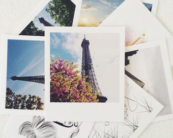 Polaroid stationery set. Polaroid print. Paris print. Paris wall art. Paris is always a good idea