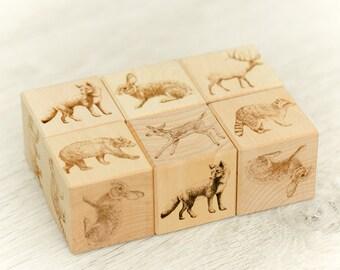 Wooden Blocks Woodland Theme