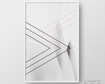 Printable Geometric Abstract Print, Abstract Poster, Geometric Minimal Print, Minimalist Wall Art, High Fashion Home Decor, Instant Download
