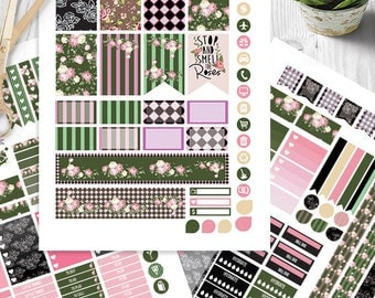 Vintage Roses Planner Stickers Printable,Shabby roses | HAPPY PLANNER STICKERS, Monthly/Weekly Kit | Happy planner Kit | Instant download