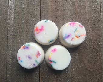 Happy Birthday Wax Melts - Scented Soy Wax Melts - Birthday Cake Wax Melts - Bakery Scented - Real Sprinkles Added - Birthday Cake Scent -