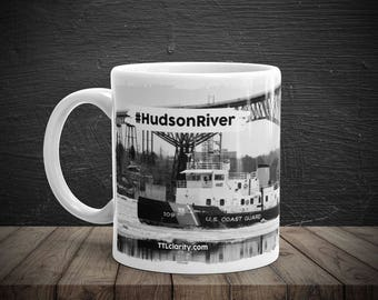 Hudson River Hudson Valley Walkway Over The Hudson US Coast Guard Ice Breaker Coffee Cup Mug