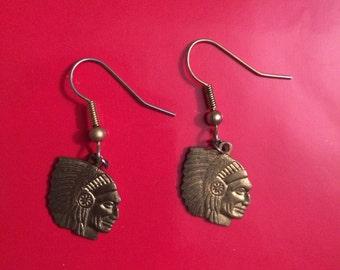 Vintage American Indian earrings