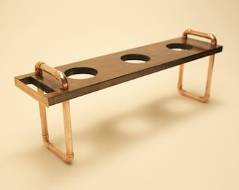 Luna+: Handmade Copper and Timber Pour-Over/Drip Coffee Stand, 3 Drip