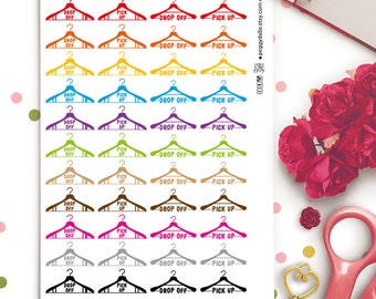 Dry Cleaning Planner Stickers |  Erin Condren ECLP Life Planner | Kikki K | Filofax |  Chores | Washing Clothes | Laundry Stickers