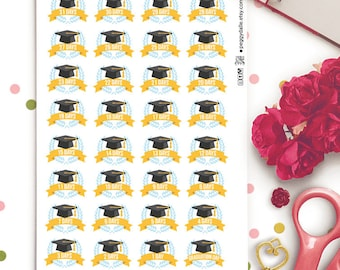 Graduation Countdown Planner Stickers | Graduation stickers | Countdown Stickers | College Stickers