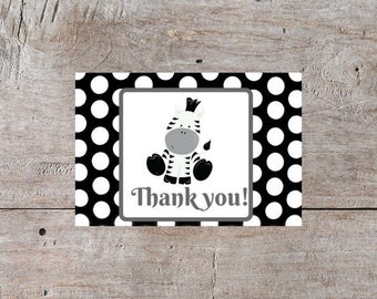 Printable Thank You Card, Zebra Thank You, Cute Thank You, Adorable Thank You, Thank You Card, Digital Thank You Card, Printable Card