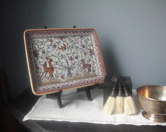 Vintage hand painted tray from Portugal