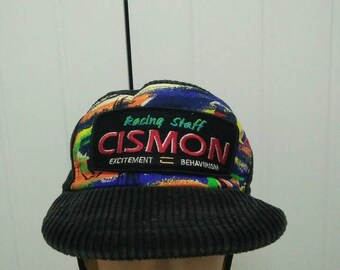 Rare Vintage RACING STAFF CISMON Wings Cap Hat Free size fit all