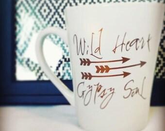 Wild heart gypsy soul mug