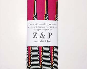 African Wax Print Headwrap // Pink and Black Headwrap