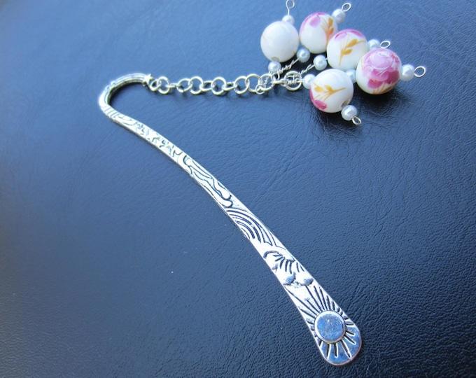 Silver Beaded Bookmark