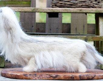 Needle Felted Dachshund - Miniature Long Hair