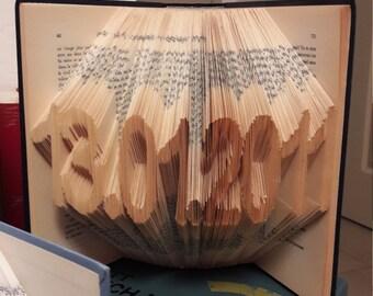 Book folded - Date 4-8 digit