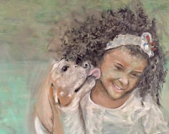 Edwina and Snoopdog Oil Painting