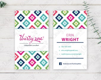 Thirty One Business Card - Candy Corners (template)