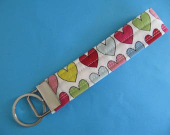 Colorful Hearts Key Fob