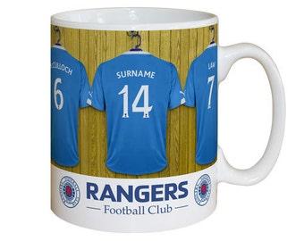 Personalised Rangers F.C. Dressing Room Mug