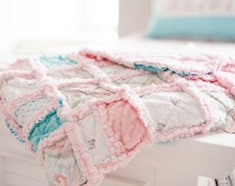 Rag Blanket/Crib Rag Blanket/Rag Quilt