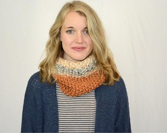 Knitted Cowl // Multi-colored Cowl // The Lisa Cowl