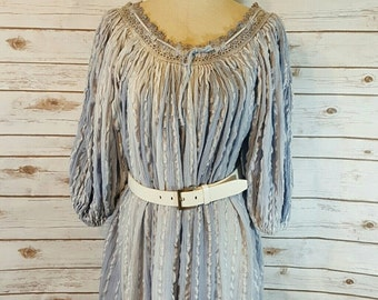 70's Grecian peasant dress, OSFM, Large