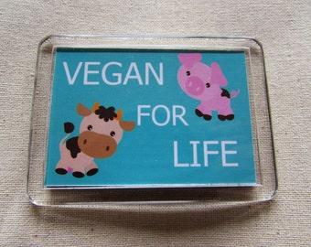 VEGAN FOR LIFE-fridge magnet