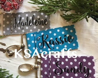 Polka Dot Chapstick Holders, Personalized Chapstick Holders, Chapstick Keychains