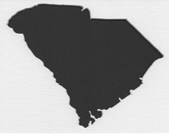 Pack of 3 South Carolina State Stencils,Made from 4 Ply Mat Board 16x20, 11x14 and 8x10