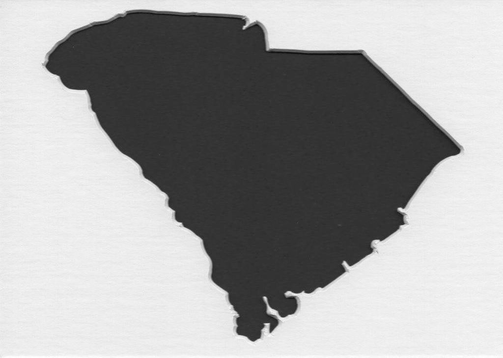 Pack Of 3 South Carolina State Stencils Made From 4 Ply