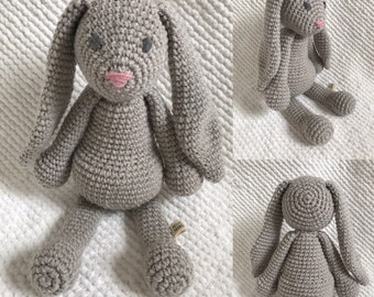 Benjamin the Bunny - Handmade crochet stuffed animal
