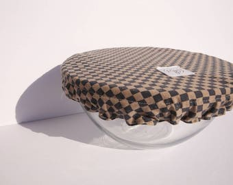 Cover Bowl checkerboard - covered Bowl to keep food - covered Bowl - lid for plates - Zero waste