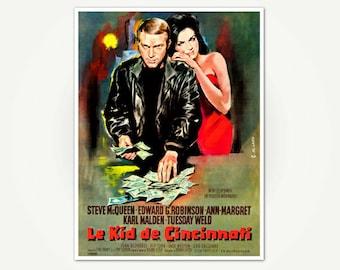Cincinnati Kid Movie Poster Print - Steve McQueen Movie Poster Art