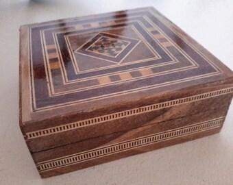 Handmade Wood Inlay Box