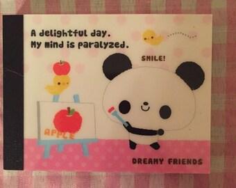 Kamio Dreamy Friends Panda Memo