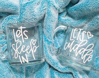 SALE ITEM | Let's Cuddle | 13 oz. Glass Mug | Coffee | Tea | Hot Cocoa | Cappucino