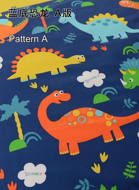 Blue dinosaur fabric kids dinosaur brontosaurus for Kids dinosaur fabric