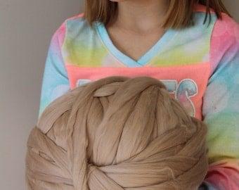 Big Yarn, Cafe Au Lait, Giant Super Bulky Chunky Yarn, Big Stitch Merino Wool, 1-2 week turnaround