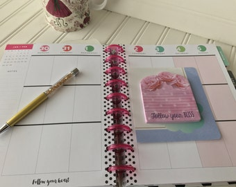 Happy Planner notepad insert for mini, classic or large size planner notepad dashboard