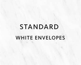STANDARD WHITE ENVELOPES