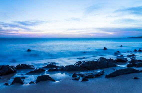 BLUE TARIFA. Seascape Print, Tarifa Spain, Beach Print, Photographic print, Costa de La Luz
