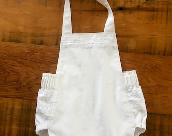 Baby Romper, Baby Girls Romper, Summer Romper, Paisley Print, Baby Girl Outfit, Baby Shower Gift, Baby Gift, Photoshoot, Cream and White