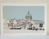 Worthing seaside print - The Dome, Worthing archival limited edition print