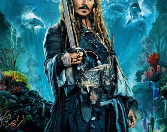 FREE SHIPPING Pirates of the Caribbean: Dead Men Tell No Tales  movie poster 11x17