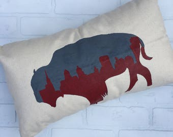 Skyline in Buffalo Pillow