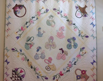 Wall Hanging Quilt, Ladies from the '30s